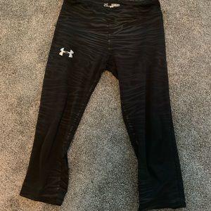 Under armour black zebra print mud calf leggings